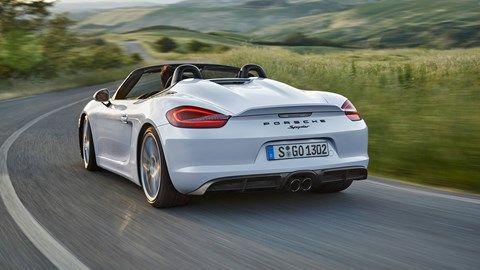 The new 2015 Porsche Boxster Spyder