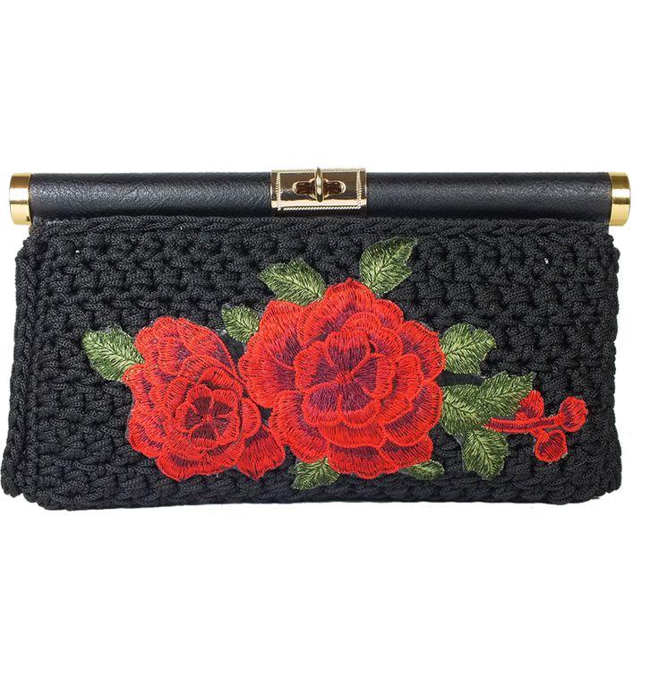 Crochet Clutch bag Handmade Roselyn