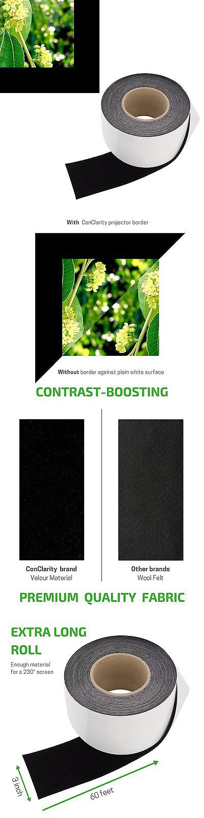 Projection Screens and Material: Contrast Boosting Projector Screen Tape - Black Velvet Felt Border Material 3 X -> BUY IT NOW ONLY: $31.33 on eBay!