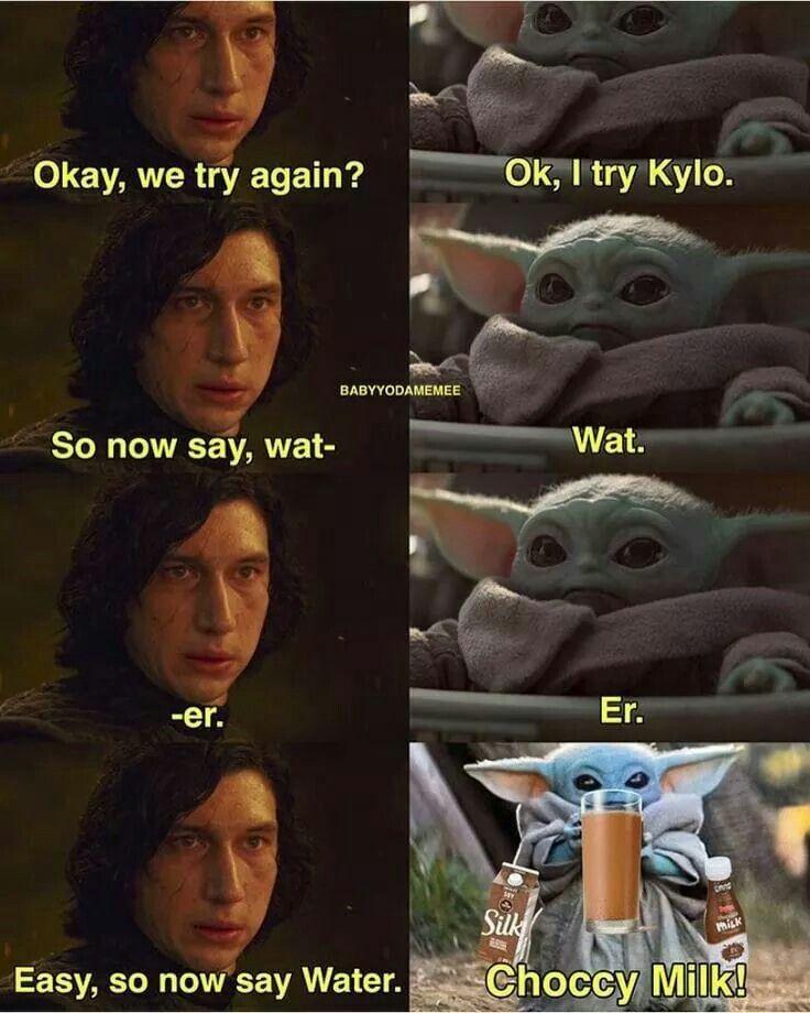 Pin By Caitie Barnes On Baby Yoda Yoda Meme Star Wars Jokes Star Wars Memes