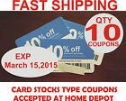 TEN Lowes 10% off COUPONs Card Stock size Competitor Depot. 03/15/15 - http://couponpinners.com/coupons/ten-lowes-10-off-coupons-card-stock-size-competitor-depot-031515-2/