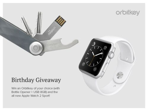 Win an Orbitkey and Apple Watch Series 2 Sport {WW} (11/30/2016)... sweepstakes IFTTT reddit giveaways freebies contests