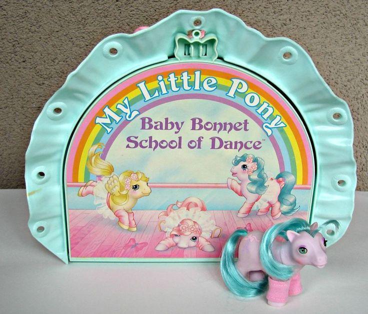 Vintage My Little Pony BABY BONNET SCHOOL OF DANCE, Near Complete EUC #Hasbro