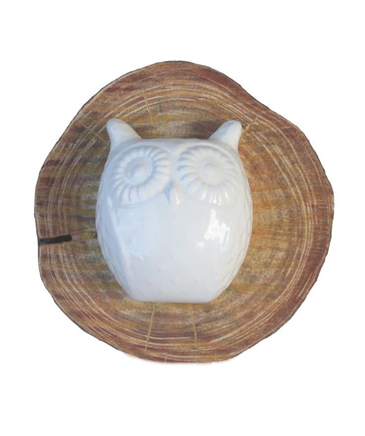 Cabeza de Búho - Perchero decorativos, en madera y cerámica. $65.000 COP. Cómpralo aquí--> https://www.dekosas.com/productos/decoracion-hogar-vida-util-cabeza-de-buho-detalle