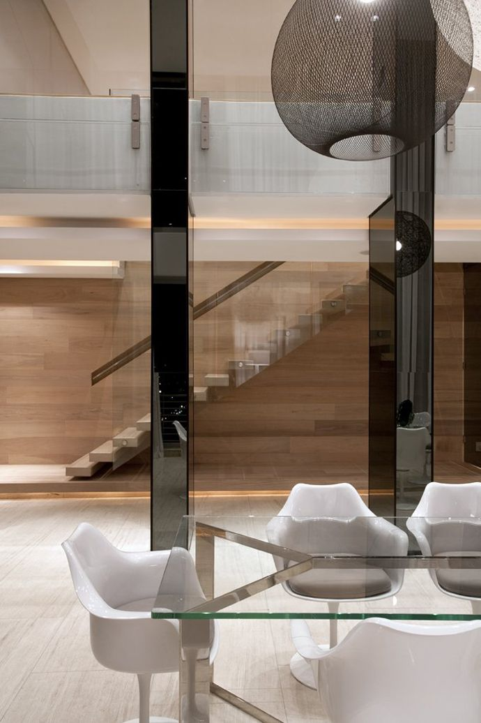 Three-level Penthouse in South Africa by SAOTA architects and OKHA Interiors _