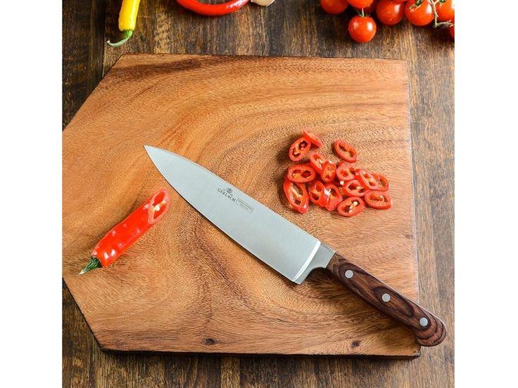 Gerlach Provence 961A - komplet 5 noży kuchennych w bloku. Pomysł na prezent. Nowoczesna kuchnia. Gotowanie. Papryka