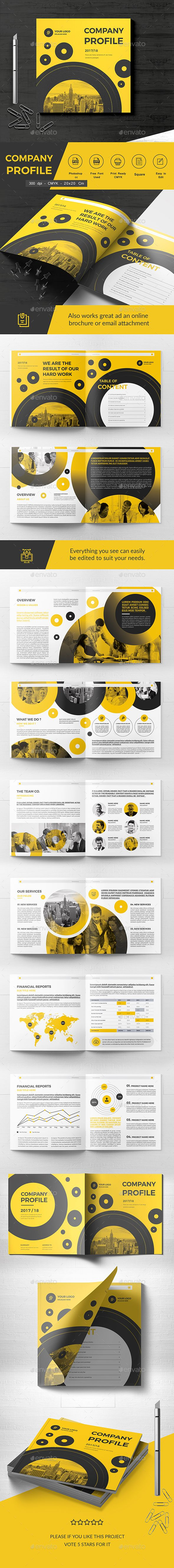 Square Company Brochure 20 Pages — Photoshop PSD #book #clean • Download ➝ https://graphicriver.net/item/square-company-brochure-20-pages/20292813?ref=pxcr