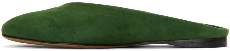 Alumnae - Green Suede Almond Mules