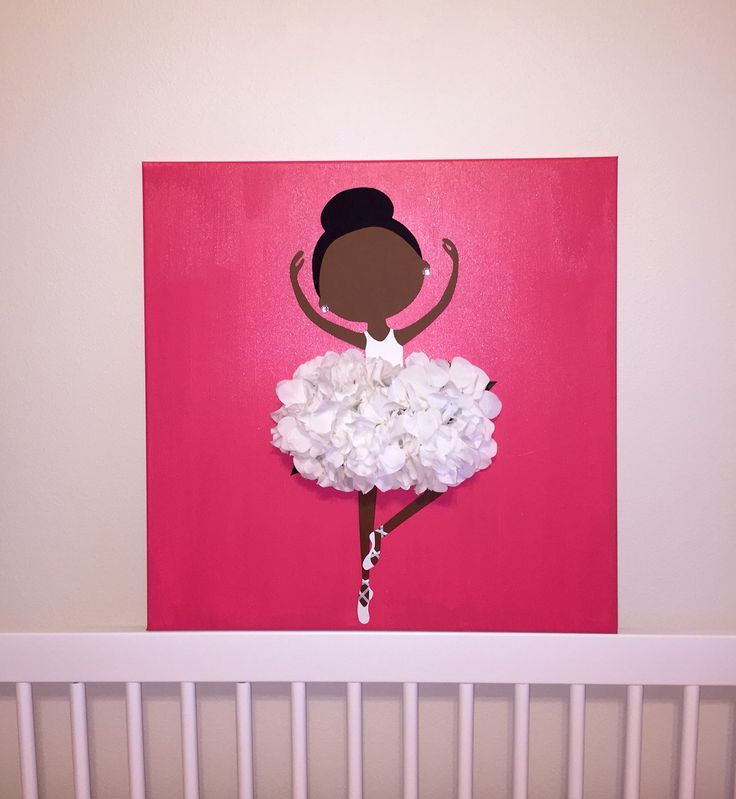 African American ballerina art for my daughter's nursery!                                                                                                                                                                                 More