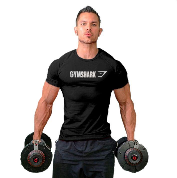 2016 Men's Gymshark cotton t shirt  male bodybuilding  shirt sportswear men Muscle Men
