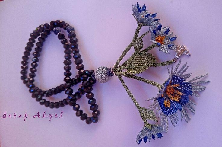 #iğne oyası#tespih #çiçek#mavi#ELİŞİ#elemeğii#gözleri#