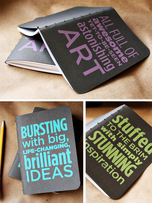 Some very well labeled notebooks to keep you inspired