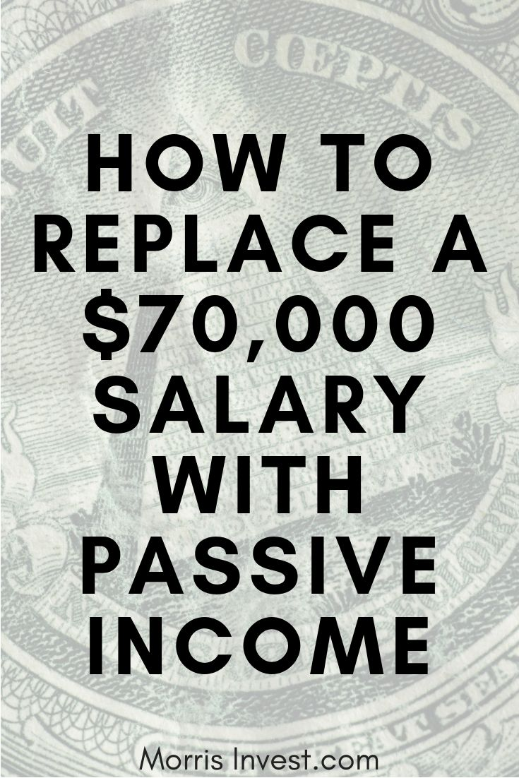 How to Replace a $70,000 Salary with Passive Income