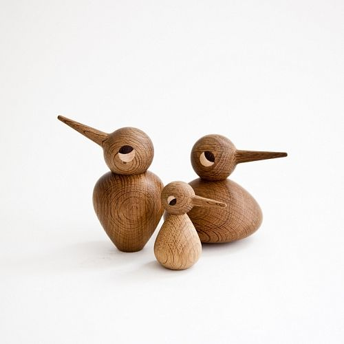 wood turned birds by kristian vedel * handmade in denmark
