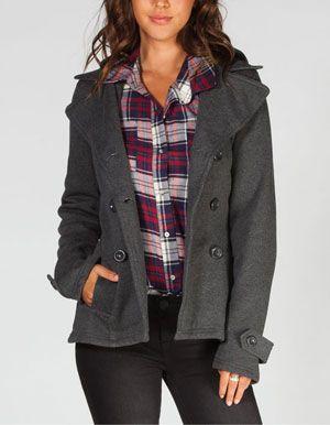 FULL TILT Womens Hooded Trench Coat   stylin   Pinterest