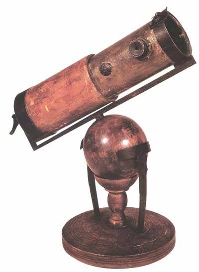 Isaac Newton's reflecting telescope,