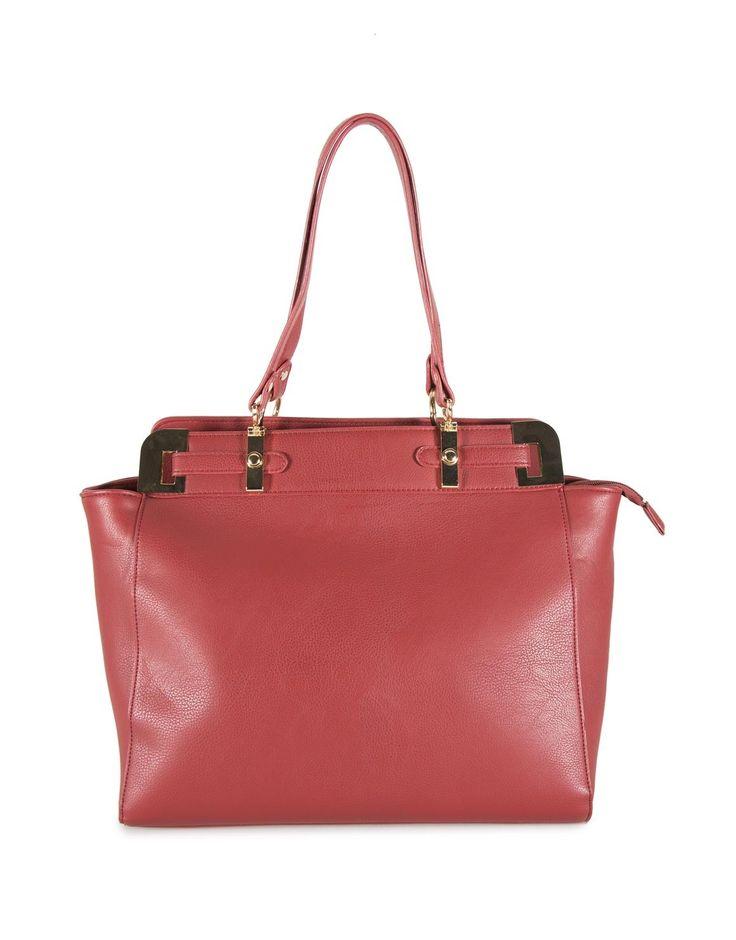 Handle Trim Tote Bag