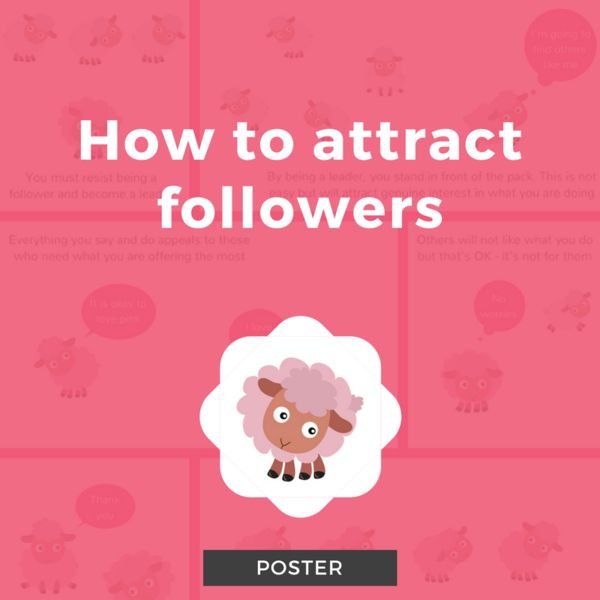 How to Attract Followers Poster
