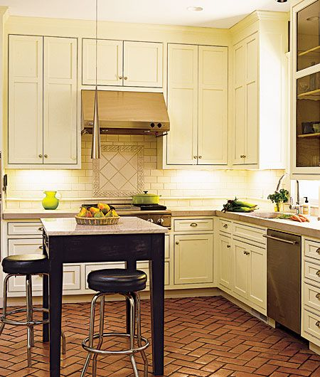 Editors 39 picks our favorite kitchens ever herringbone for Terracotta kitchen ideas