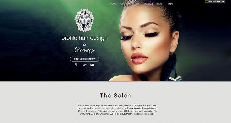 Wix Professional Web Design Hairdresser & Beauty salon