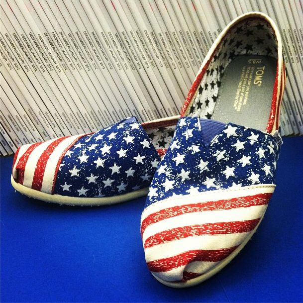 American Flag Toms.... K, these are the only flag item I want to own ;)