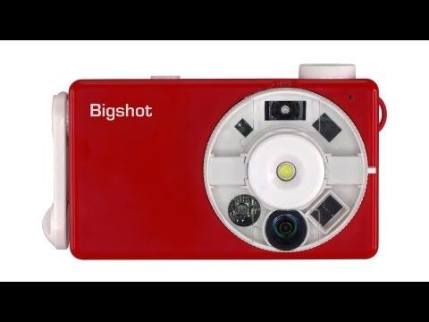 Bigshot Camera What a great idea to allow kids to build this camera and learn how it works!