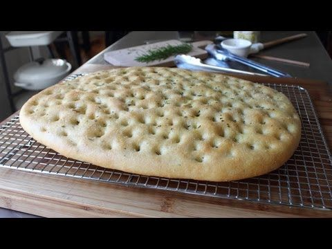 Focaccia Recipe - Italian Flat Bread with Rosemary and Sea Salt #video