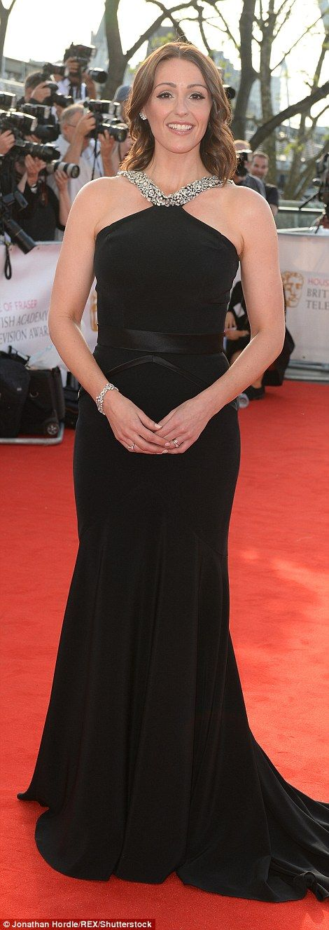 Fashion's favourite colour: Doctor Foster star Suranne Jones dressed to impress in an enchanting black frock, the same shade worn by her former Coronation Street co-star Kate Ford who opted for a more summery look