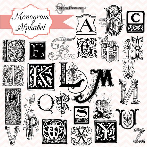 Best Monograms Images On   Embroidery Letters And