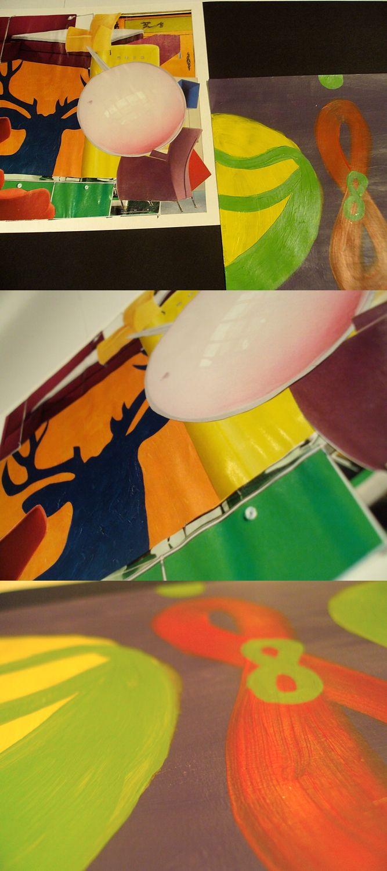 Schoolwork. Collage Retro.