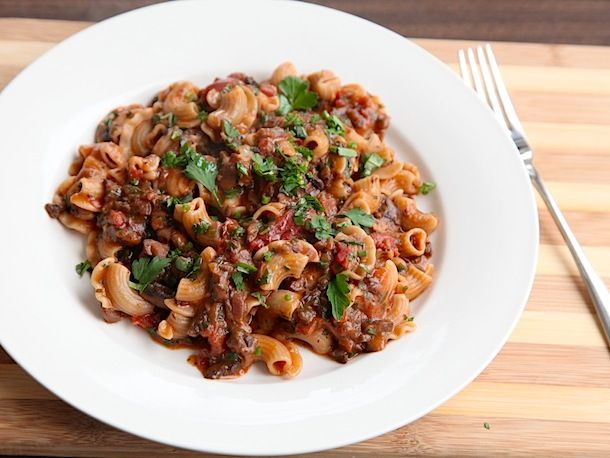 Hearty #Vegan Mushroom Bolognese recipe