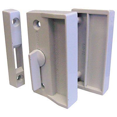 Loquet de remplacement pour portes moustiquaires coulissantes Installation de surface Poignée extérieure incluse