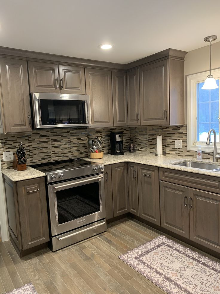 Thomasville Heather Grey Cabinets From Home Depot Kitchen
