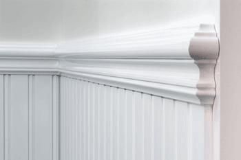 Dado Panel Rails to keep with the traditional victorian aspects of the home. Adds a touch of history and elegance. Crisp white all throughout the home.