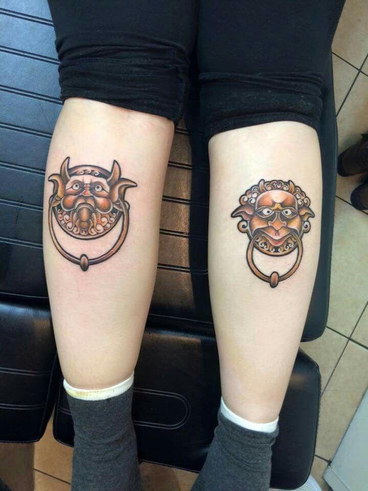The Labyrinth door knocker tattoos