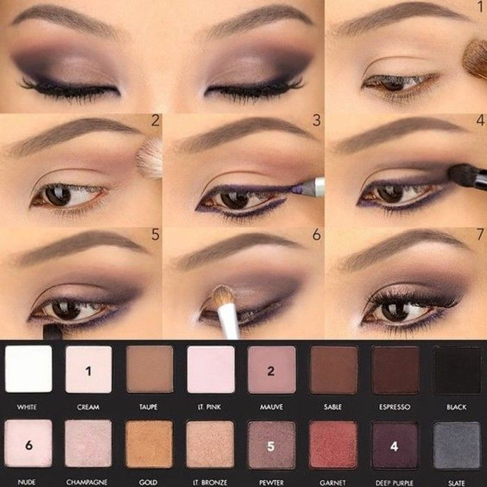 comment maquiller les yeux marrons, smokey eyes marron