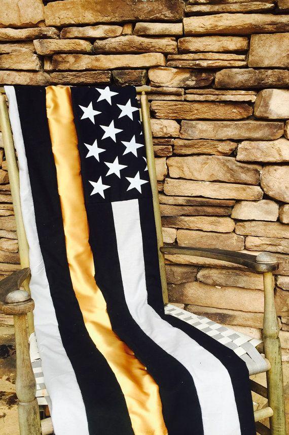 Thin Gold Line - Police Dispatcher - 911 Operator - Police Dispatcher - Throw - Blanket