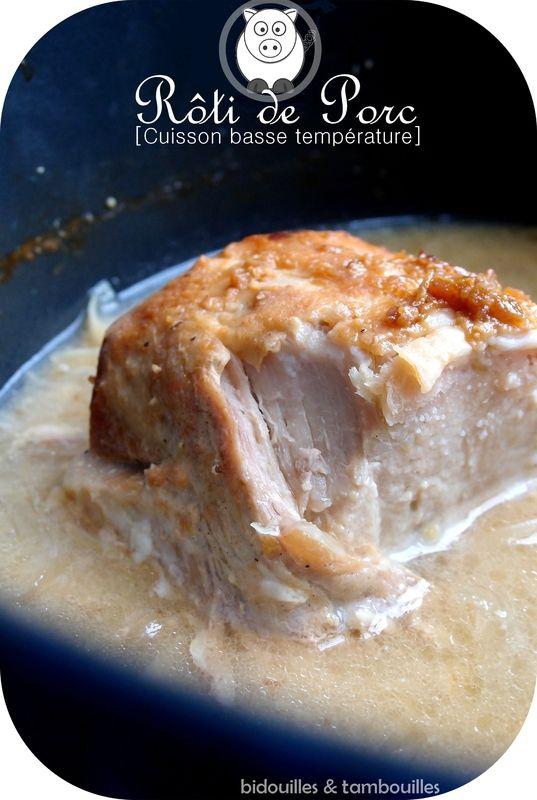 Rôti de porc, cuisson basse température, moutarde & miel