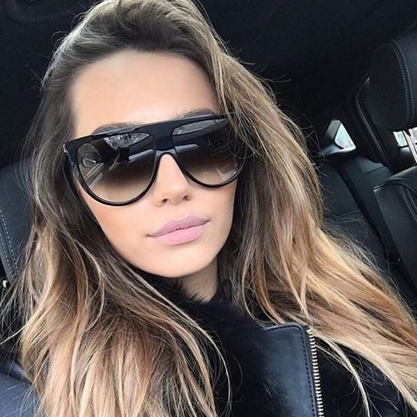 b267391461 FuzWeb Oversized Vintage Ladies Sunglasses Women er Gradient Lens Luxury  Female Thin Shadow Lunette femme