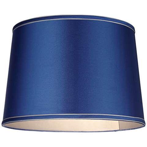 17 Best ideas about Drum Lamp Shades on Pinterest | Grey chevron ...:Sydnee Satin Medium Blue Drum Lamp Shade 14x16x11 (Spider),Lighting
