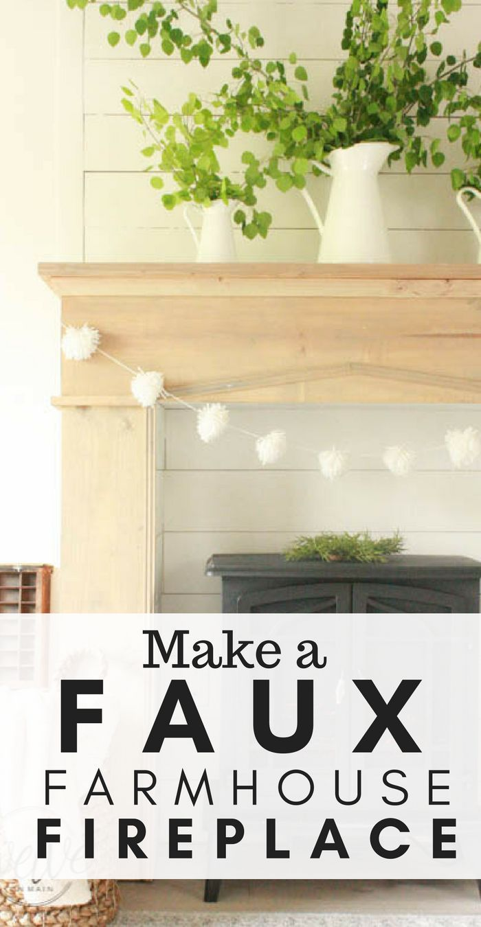 Make an easy faux farmhouse fireplace and mantel and add oodles of charm and character to your home!