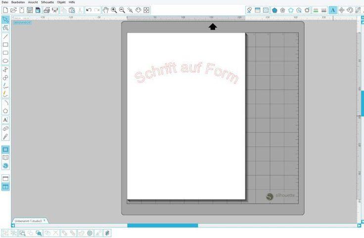 Silhouette Studio: Wie biege ich Schrift (Schrift auf Form)?