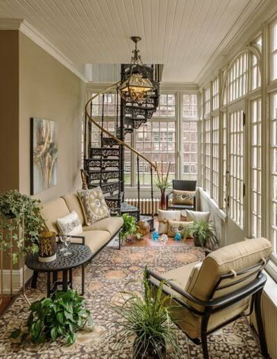 Beautiful Sunroom Decorating Ideas Images Window Treatments