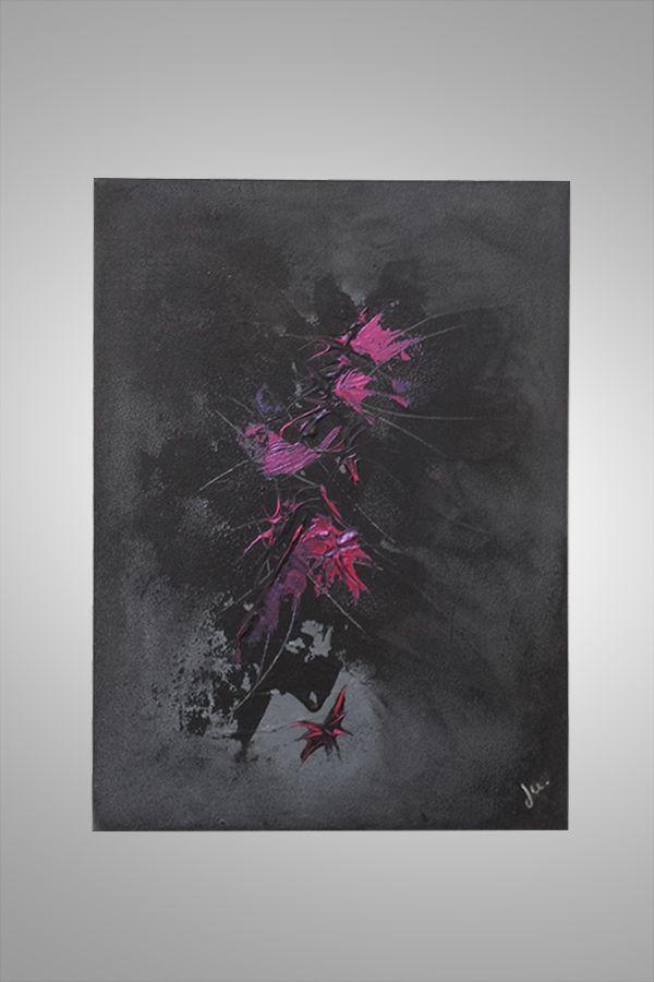 tableau abstrait contemporain wonder red http://www.ju-tableaux-contemporains.com/tableau-abstrait-rouge-et-noir-wonder-red/