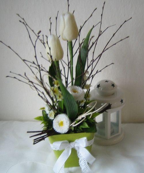 Jemná dekorace s tulipány / Zboží prodejce Silene   Fler.cz