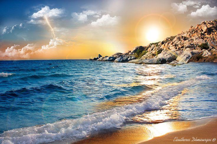 Godlike Sunset by Ελεύθερος Δημιουργός on 500px
