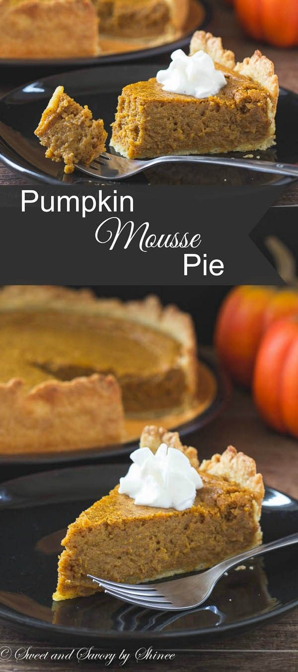 Not your traditional pie, yet this pumpkin mousse pie is incredibly light and flavorful. It'll quickly become your family's favorite!