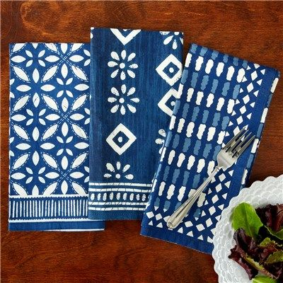 Batik Print Luncheon Napkin Set of 4 @Layla Grayce