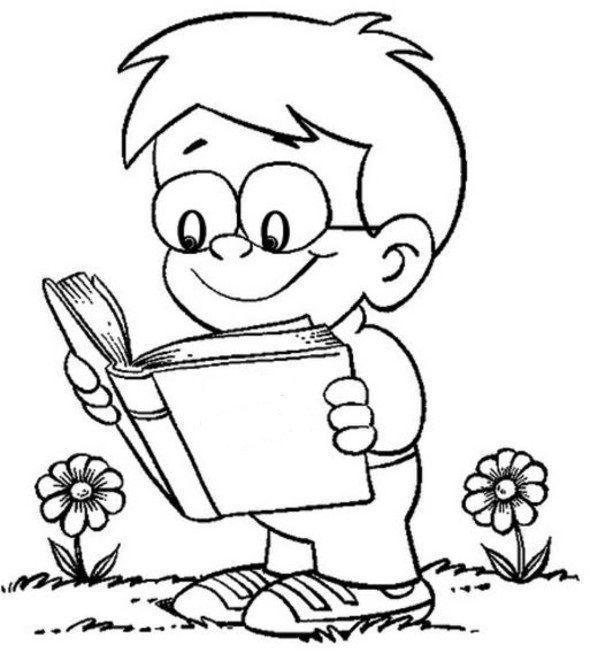 Ausgezeichnet Kinder Lesen Bücher Malvorlagen Bilder - Beispiel ...