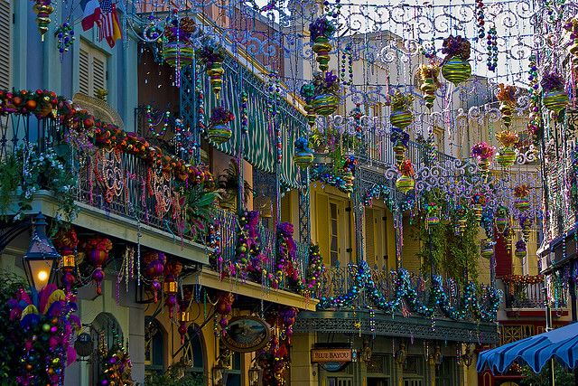 New Orleans Square at Christmas time.  Doing this, Christmas 2013.